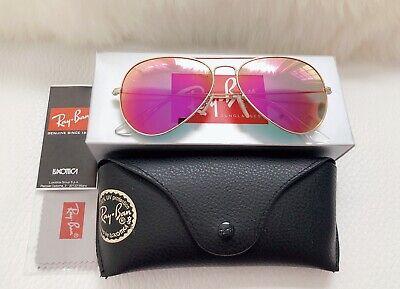 Ray-Ban Sunglasses Women Aviator Pink Mirror 🇺🇸 (Ray Ban Women's Aviator Sunglasses)