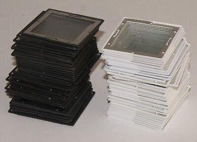 100 Stück Gepe Mittelformat Diarahmen Glas 6x6 verglast Antinewton Dia Rahmen
