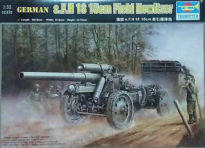 TRUMPETER® 02304 WWII German 15cm s.FH 18 Field Howitzer in 1:35