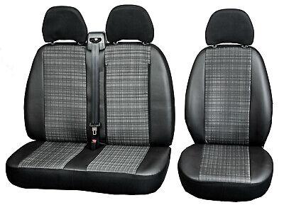 Schwarz-rote Sitzbezüge für FIAT DUCATO Autositzbezug SET 1+2