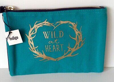 Indigo Wild at Heart Make Up Bag BNWT