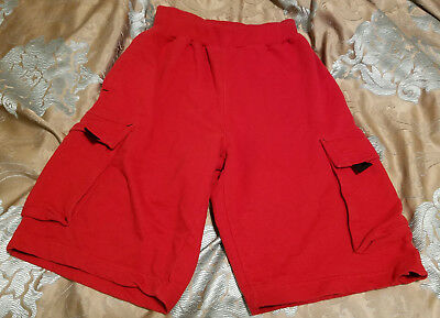 23e2ad0978 Champs Sports Gear CSG red cargo sweat SHORTS Sz Small 22
