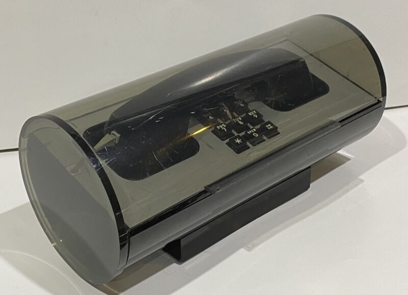 MOD Western Electric Telestar LUCITE ROLL TOP TOUCHTONE PHONE Tested Works