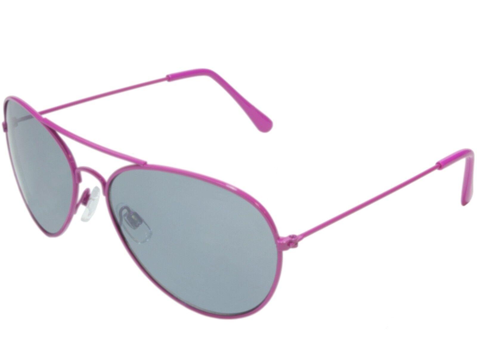 Womens Small 51mm Aviator Sunglasses Wire Frame Purple Gray Lens | eBay