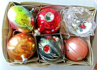 vintage grandi palline in vetro-x albero di babbo natale-christmas-