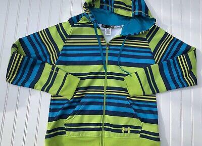 Under Armour Cold Gear Semi Fitted Full Zip Hoodie Jacket Sweatshirt Large Women