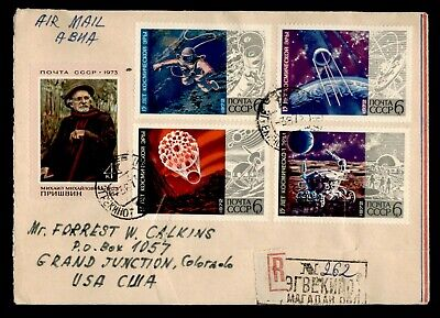 DR WHO 1973 RUSSIA TO USA REGISTERED AIR MAIL C126760