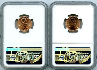 2021 P D CENT NGC MS66 SHIELD MATCHING 2 COIN LINCOLN LABEL SET FIRST RELEASES - $8.49