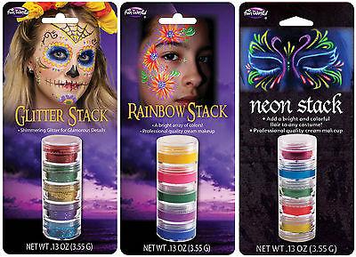 Makeup Stacks Rainbow or Blacklight Neon Halloween Party Rave Face Paint  fnt](Rainbow Halloween Makeup)