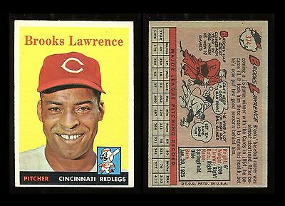 1958 Topps #374 Brooks Lawrence *Redlegs* EX/EX+ **AA-7509**
