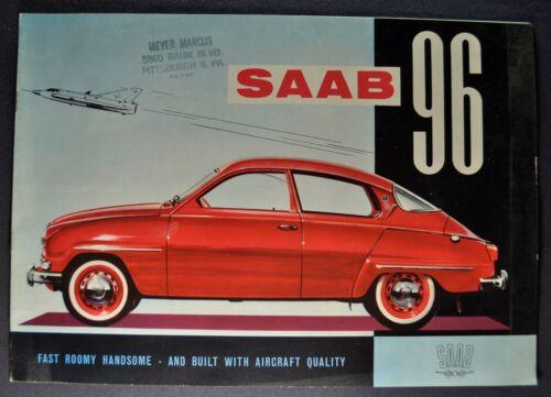 1961 Saab 96 Sedan Catalog Sales Brochure Excellent Original 61