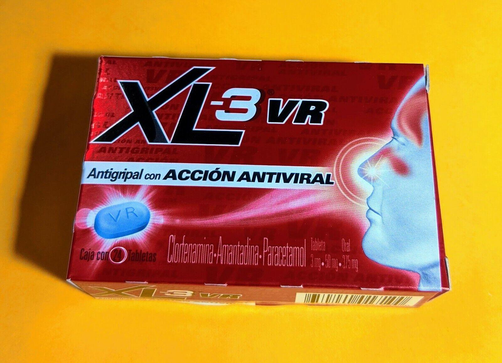 XL-3 Xtra VR Cold & Cough MEXICANO  Medicine Antigripal Anti