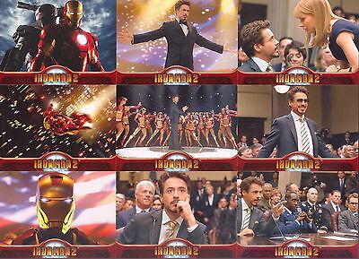 IRON MAN 2 MOVIE 2010 UPPER DECK COMPLETE BASE CARD SET OF 75 MARVEL COMICS
