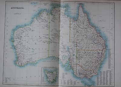 1897 AUSTRALIA AND TASMANIA LARGE MAP