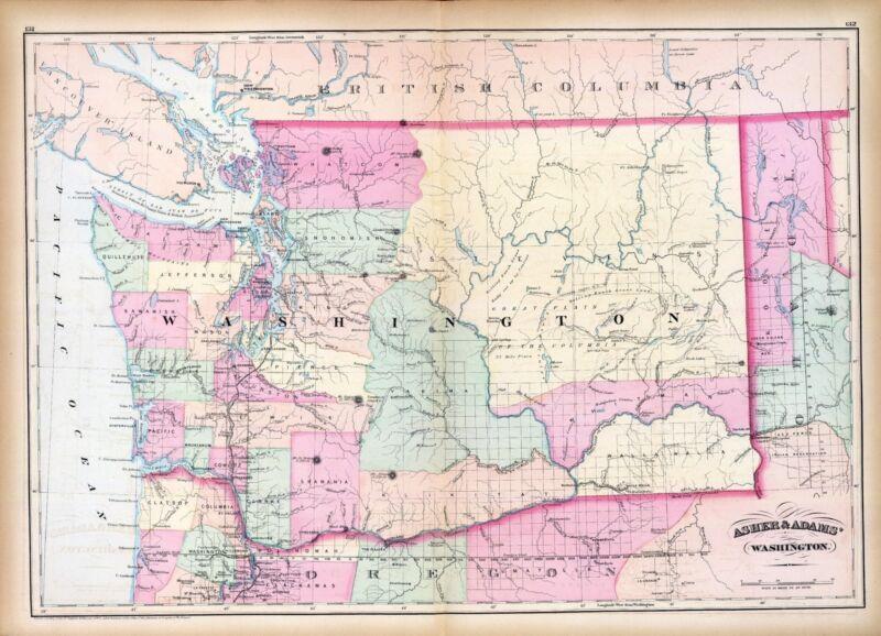 152 maps WASHINGTON STATE PANORAMIC genealogy old HISTORY DVD