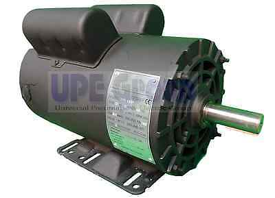 5 HP  Electric Motor 3450 RPM Air Compressor  56 Frame 1 Phase 7/8