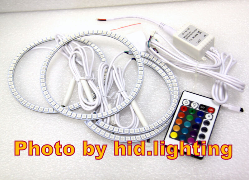 LED Multi-Color SMD RGB ANGEL EYES HALO RING Lamps Remote for LEXUS IS200 IS300