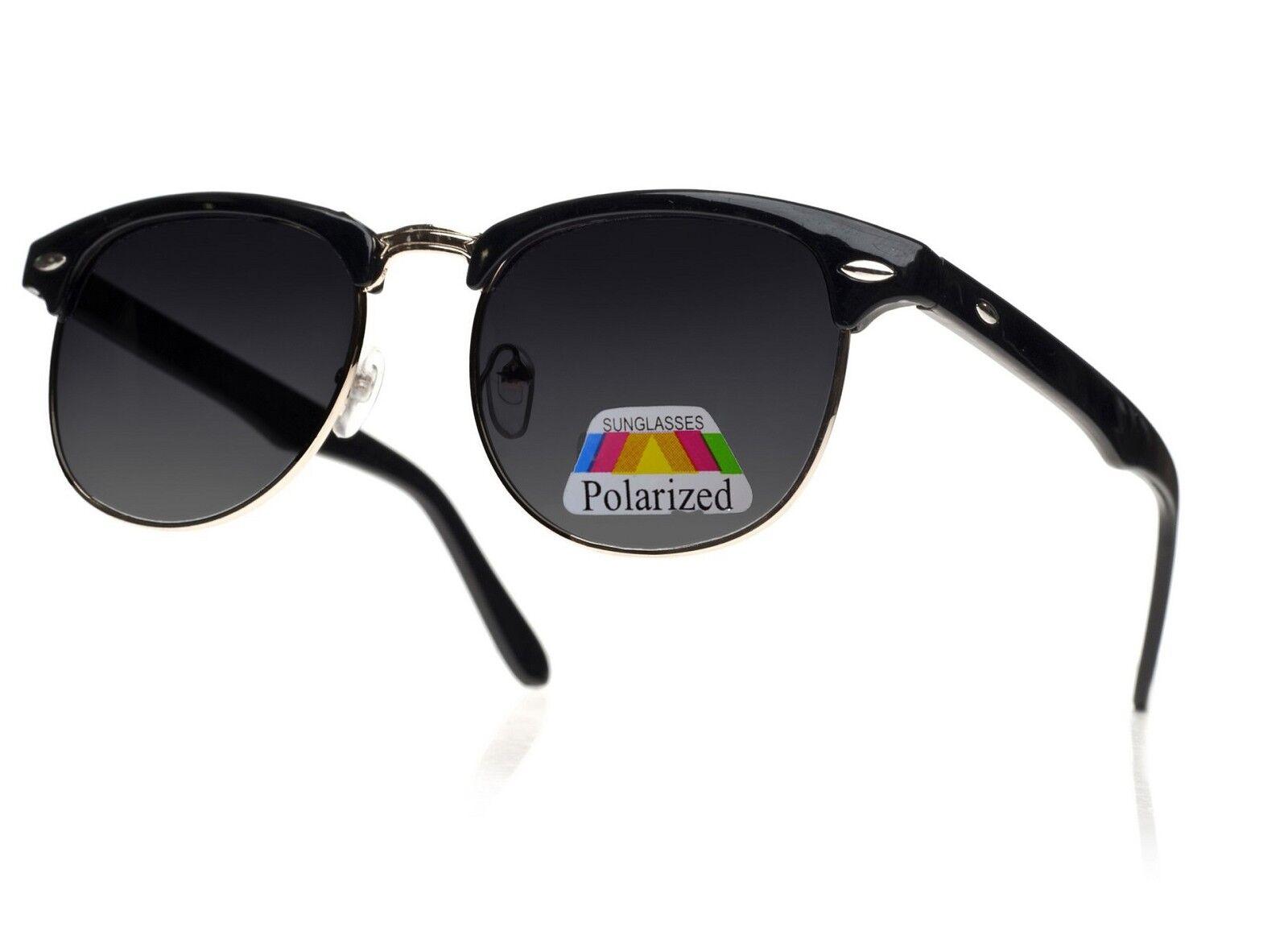 Herren Damen Damen Sonnenbrillen Neu Klassisch 1980 S Full Uv400 Schwarz Gold