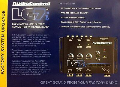 NEW Audio Control LC7i 6-Channel Line Output Converter w/ Bass Restoration BLACK