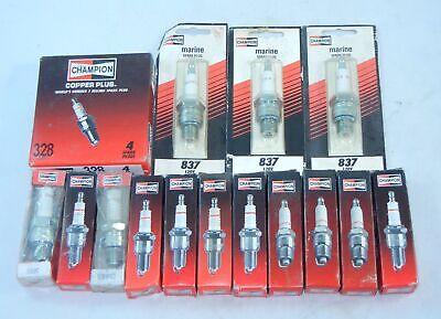 Quantity 18 CHAMPION SPARK PLUGS 814 312 837 838 824 328  L82C L86C  MARINE NOS