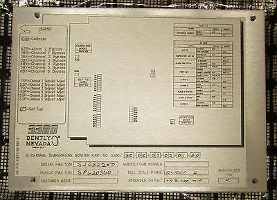 Bently Nevada 3300 3005 02 02 01 00 Six Channel Temperature Monitor