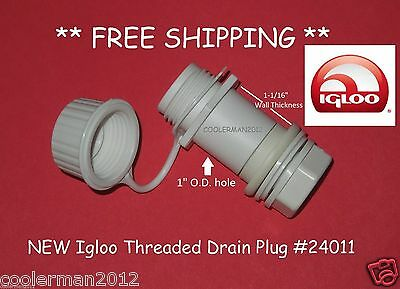 Igloo Cooler # 24011 Threaded Drain Plug Screw Cap Replacement Parts Kit