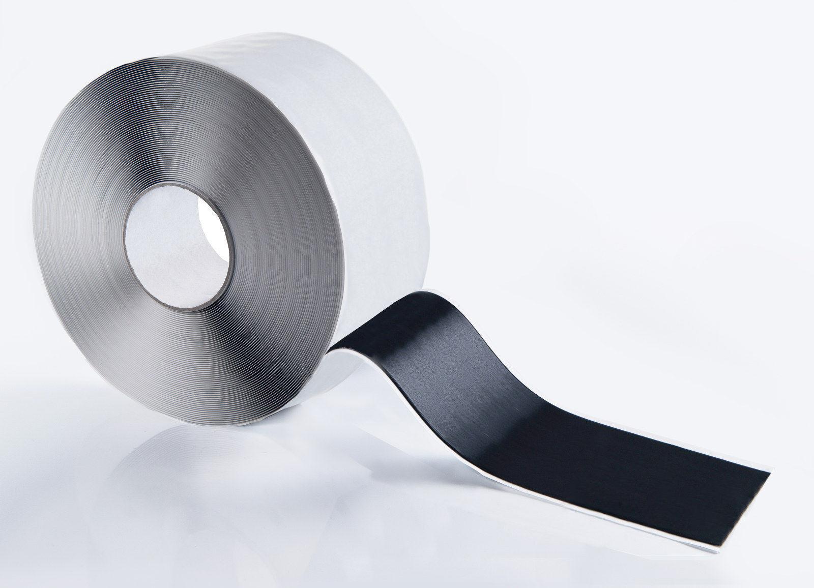 HSF Butylband 30mm x 1mm mit Gelegeeinlage schwarz 15m Rolle