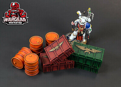 3D Printed Scatter Terrain Pack - Barrels and Crates for sale  Shipping to Canada