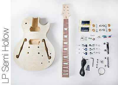 NEW DIY Electric Guitar Kit – Singlecut Semi Hollow Build Your Own Guitar Kit