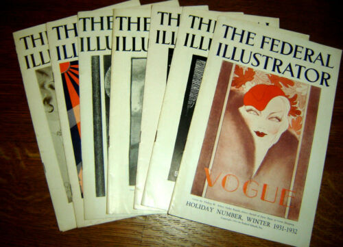 7 issues The Federal Illustrator 1930-1932 -  cutting edge commercial art - rare