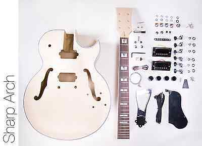 NEW DIY Electric Guitar Kit 175 Style Build Your Own Guitar Kit - Sharp Arch
