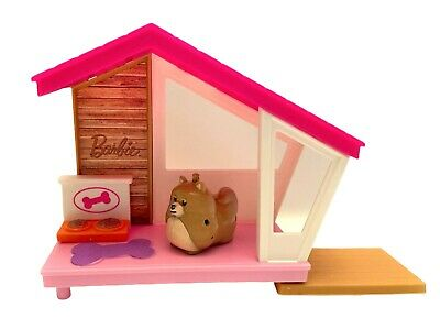 Mattel 2018 Barbie Puppy and Dog Play Dog House and Dog Flashlight Barking Toy