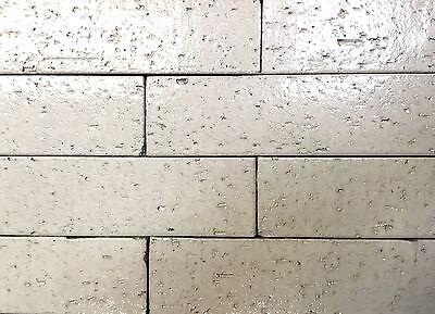 2.5x9.5 Vanilla Glossy Glazed Extruded Brick Wall Field Tile Bath (PACK OF 10)