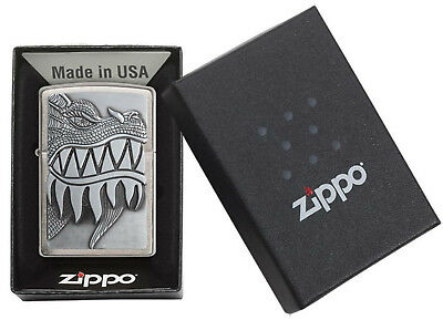 FIRE BREATHING DRAGON TEETH ZIPPO LIGHTER NEW & SEALED IN BOX 28969 - Fire Breathing Dragon