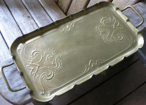 Antique Joseph Sankey & Sons Art Nouveau/Arts & Crafts Vintage Brass Tray