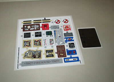 New Lego Ghostbusters Original Unused Sticker Sheet Firehouse Headquarters 75827