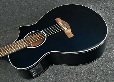 IBANEZ AEWC10 NMB 6 STRING Acoustic-Electric Guitar Night Metallic BLUE Color