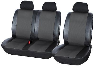 Intensiv Schwarze Sitzbezüge für OPEL VIVARO Autositzbezug SET 1+2