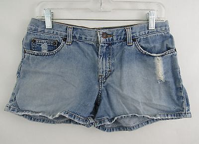 Women's American Eagle Outfitters Distressed Denim Jean Shorts Cotton Size 6