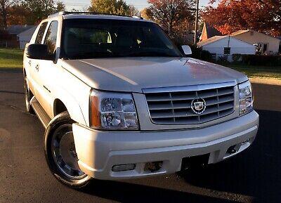 2003 Cadillac Escalade  2003 Cadillac Escalade EXT pickup truck SUV GM AWD white diamond rims avalanche