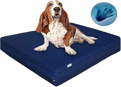 XL Waterproof Gel Cool Memory Foam Pet Dog Bed for Medium - Large Dog Denim Blue