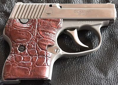 Acp Antique - North American Guardian 25 ACP pistol grips antique copper gator skin plastic