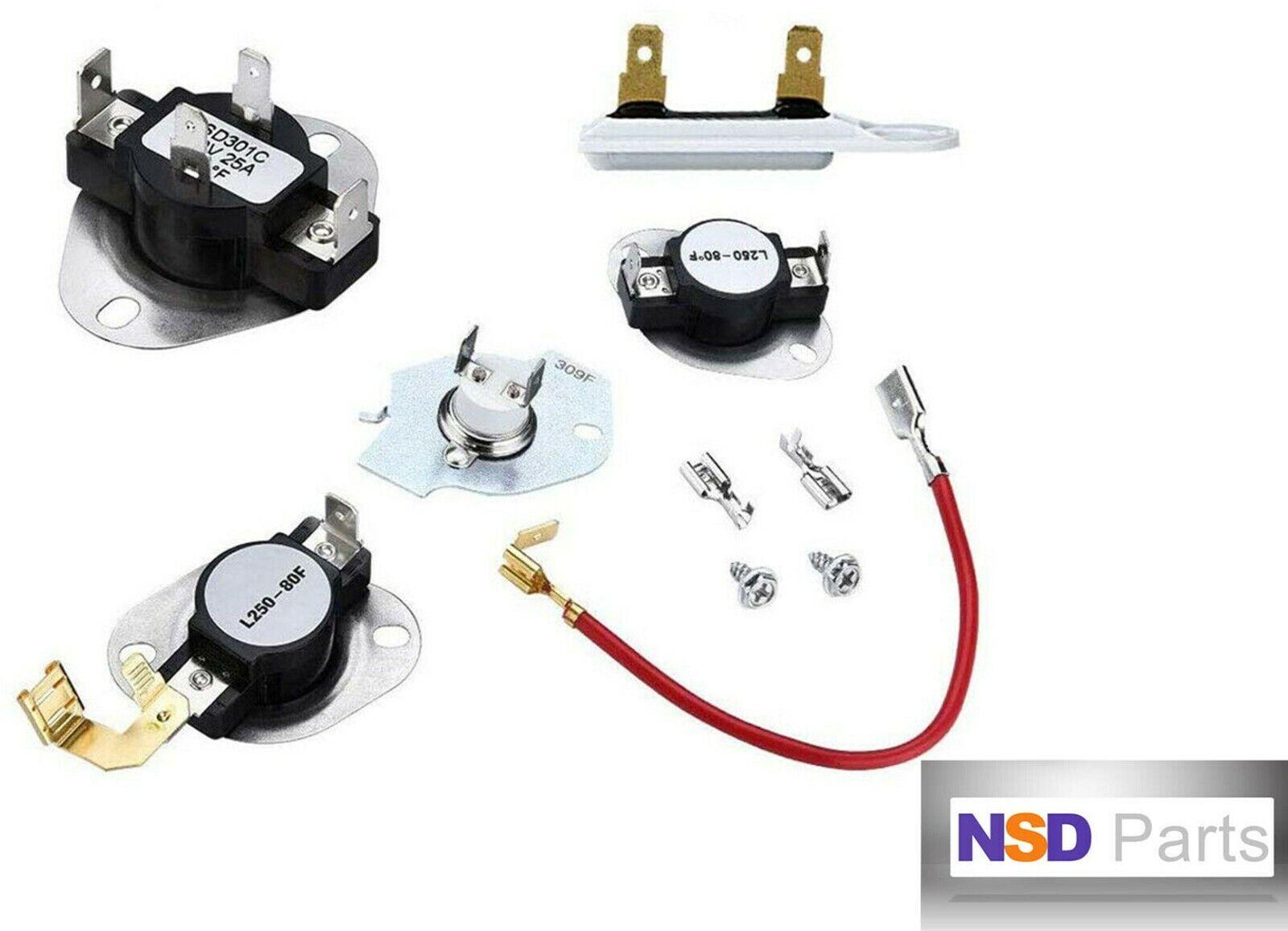 3387134, 3977767, 279816, 3392519 Dryer thermostat fuse kit