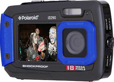 Polaroid IE090 2.7 Inch 720p HD 18MP Waterproof Built in Flash Camera - Blue