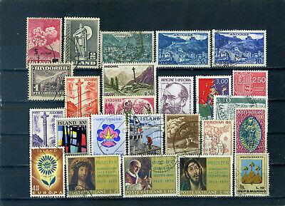 nice lot mini-states EUROPE, (ICELAND, ANDORRA etc), all postally used