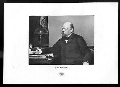Paul Schlenther Insterburg / Berlin Schriftsteller u. Burgtheaterdirektor v.1906