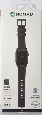 Nomad - Modern Leather Watch Strap for Apple Watch 42mm Black