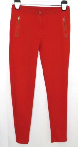 Crewcuts Girls Red Cotton Stretch Jegging Pants 16  Zip Pockets