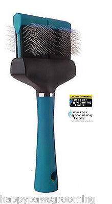 Pro Grooming FIRM WIDE FLEXIBLE SLICKER BRUSH PET Dog Hair Mat Remover Breaker