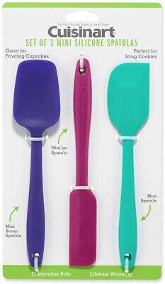 Cuisinart Mini Silicone Spatulas, Set of 3: Purple Scoop Spa